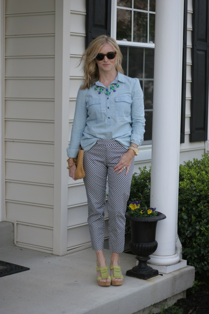 Old Navy, Jbrand, JCrew, Tory Burch, Helen Ficalora, Stella Dot, Michael Kors, loren hope, Gap, sundance catalog, elizabeth and james, two way chambray, lulu looks, style tips, Simply Lulu Style, LosPhoto,