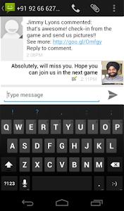 update status lewat sms