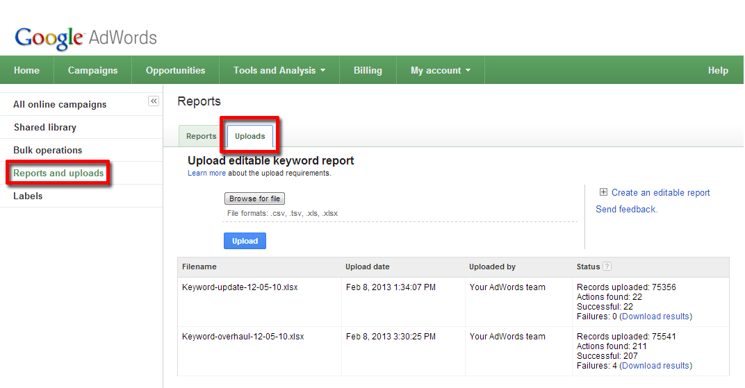Large-scale keyword changes made easy with keyword bulk uploads - Inside AdWords