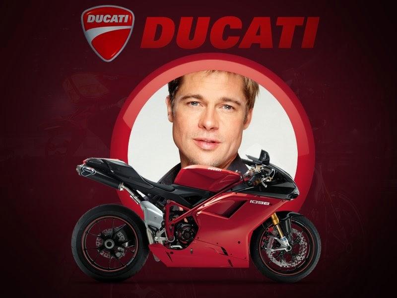 Pagina para Editar Fotos: Marco para fotos con moto Ducati