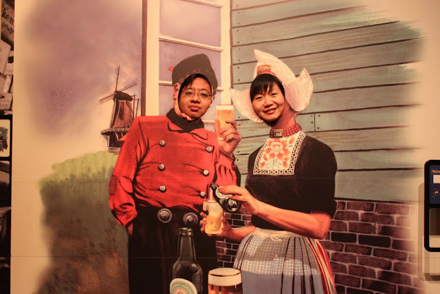 Heineken Beer is produced by a Dutch company called, Heineken International and we posed ourselves in Dutch costumes at Heineken Experience Museum in Amsterdam, Netherlands
