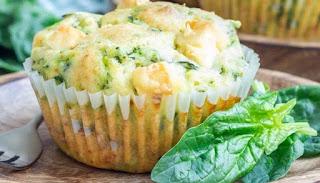 Muffins de espinaca y queso, receta paso a paso
