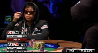 Joseph Cheong vs. Jonathan Duhamel at 2010 WSOP Main Event