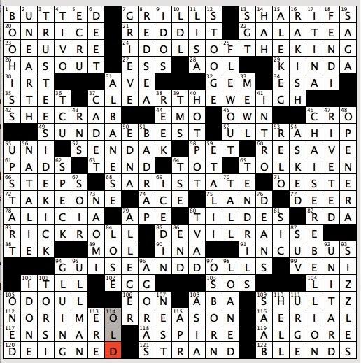 Crossword clue poker player's phrase