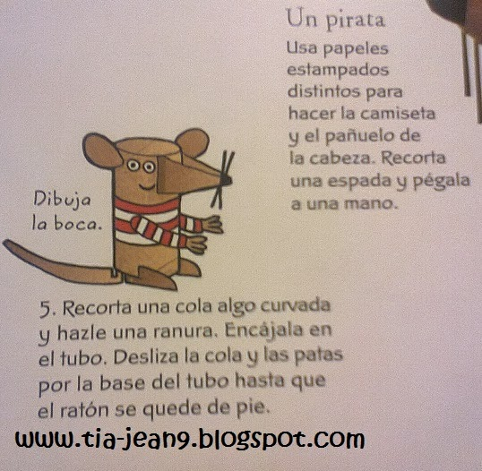 PASO A PASO CON JEANNINE: COMO HACER UN RATON CON ROLLOS DE CARTON