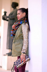 Military sequined jacket