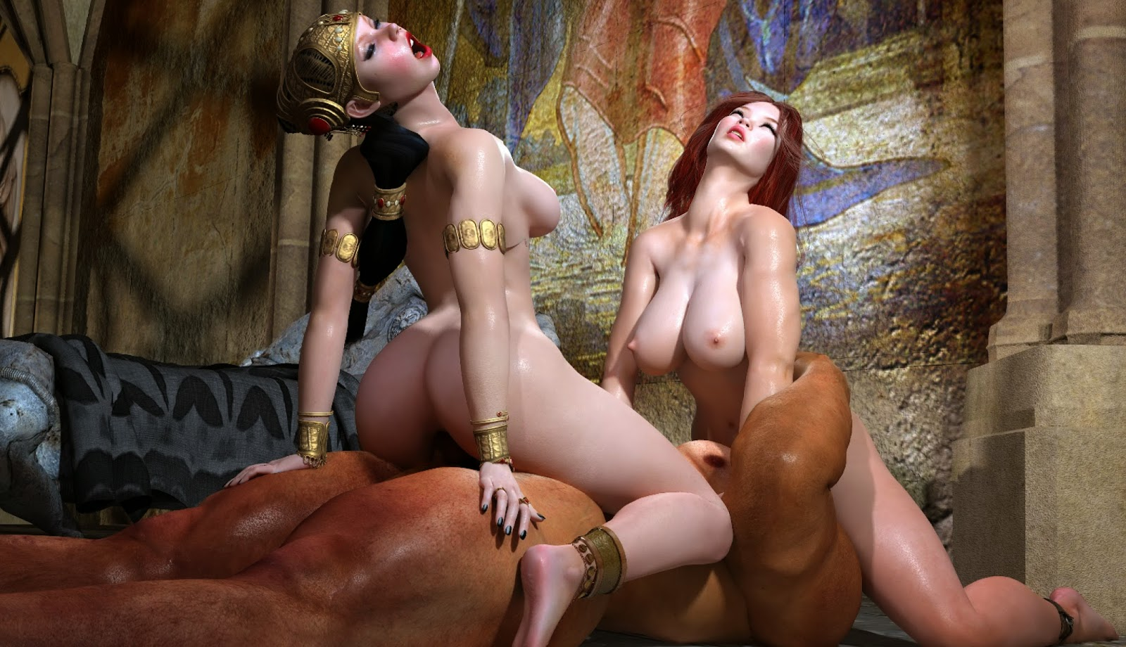 Three orcs fuck girl 3d hentai naughty pornstar