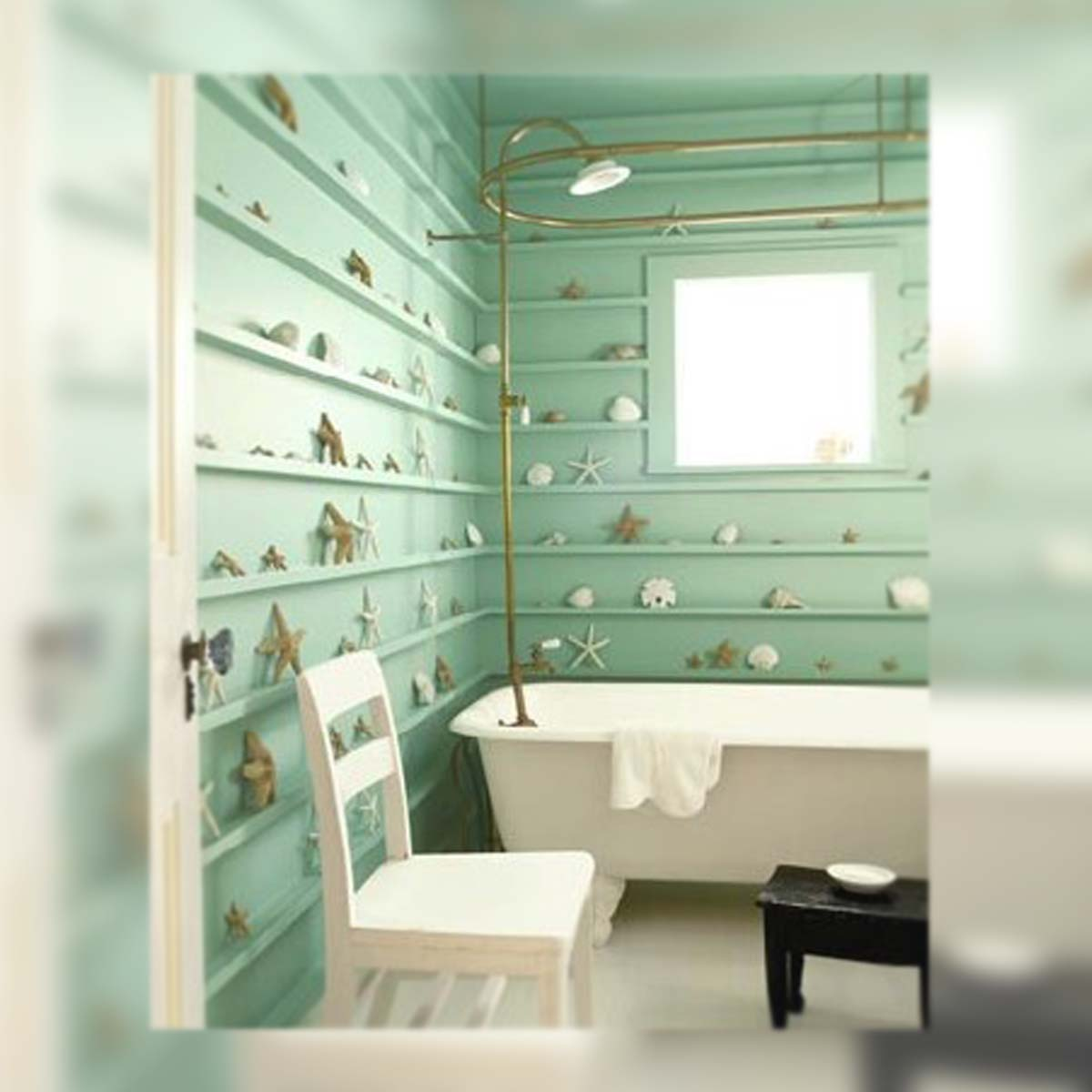 Inspiration day ba o shabby mint la musa decoraci n for Adornos bano
