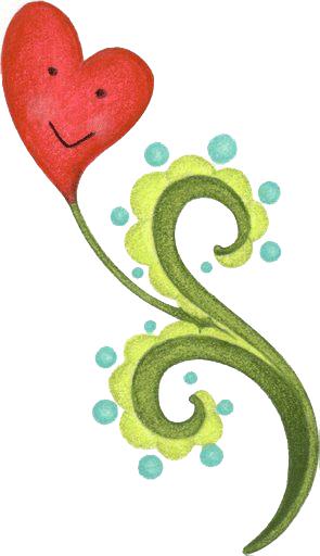 una flor de corazon