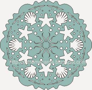 scallops seaweed and starfish snowflake