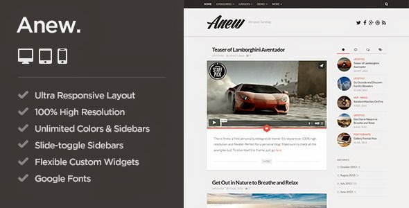 Best Responsive WordPress Tumblog Theme
