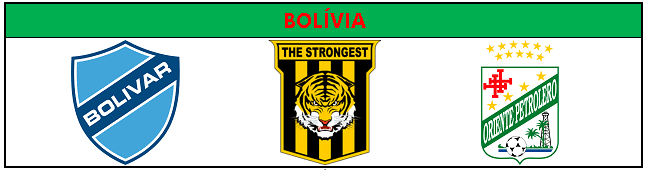 Classificados pra Libertadores da Bolívia
