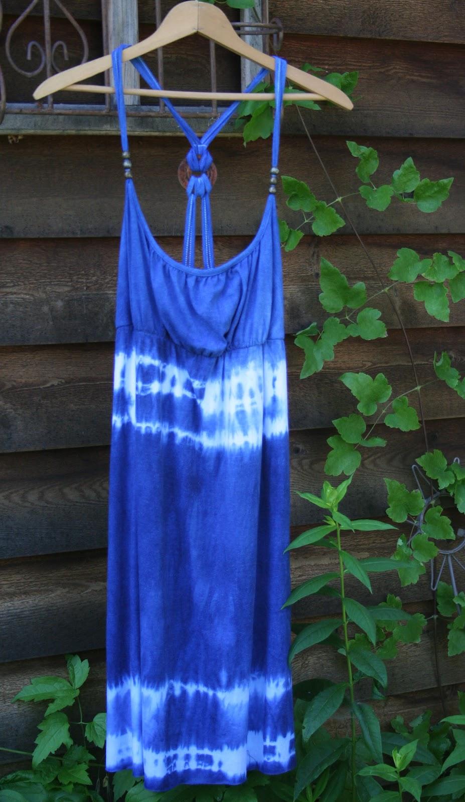 Refashion Co Op Diy Indigo Tie Dye River Dress