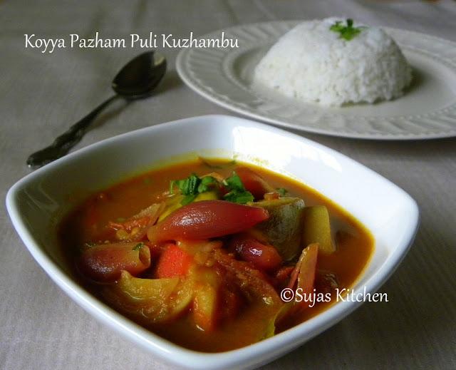 Koyya Pazham Puli Kuzhambu / Guava in Tamarind Gravy