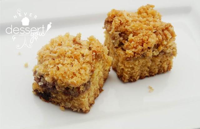 Never Dessert You Raspberry-Almond Coffeecake