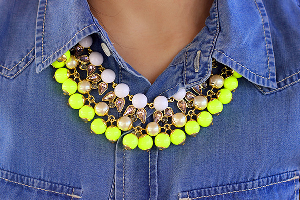 BaubleBar Neon Necklace