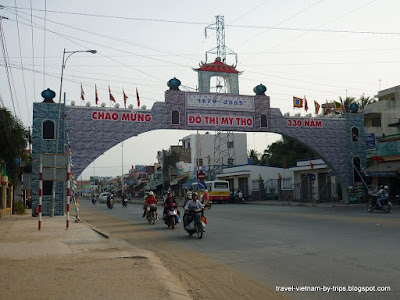 Gate of My Tho at Trung Luong three-way crossroads