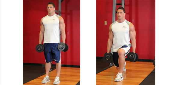 Dumbbell Rear Lunges