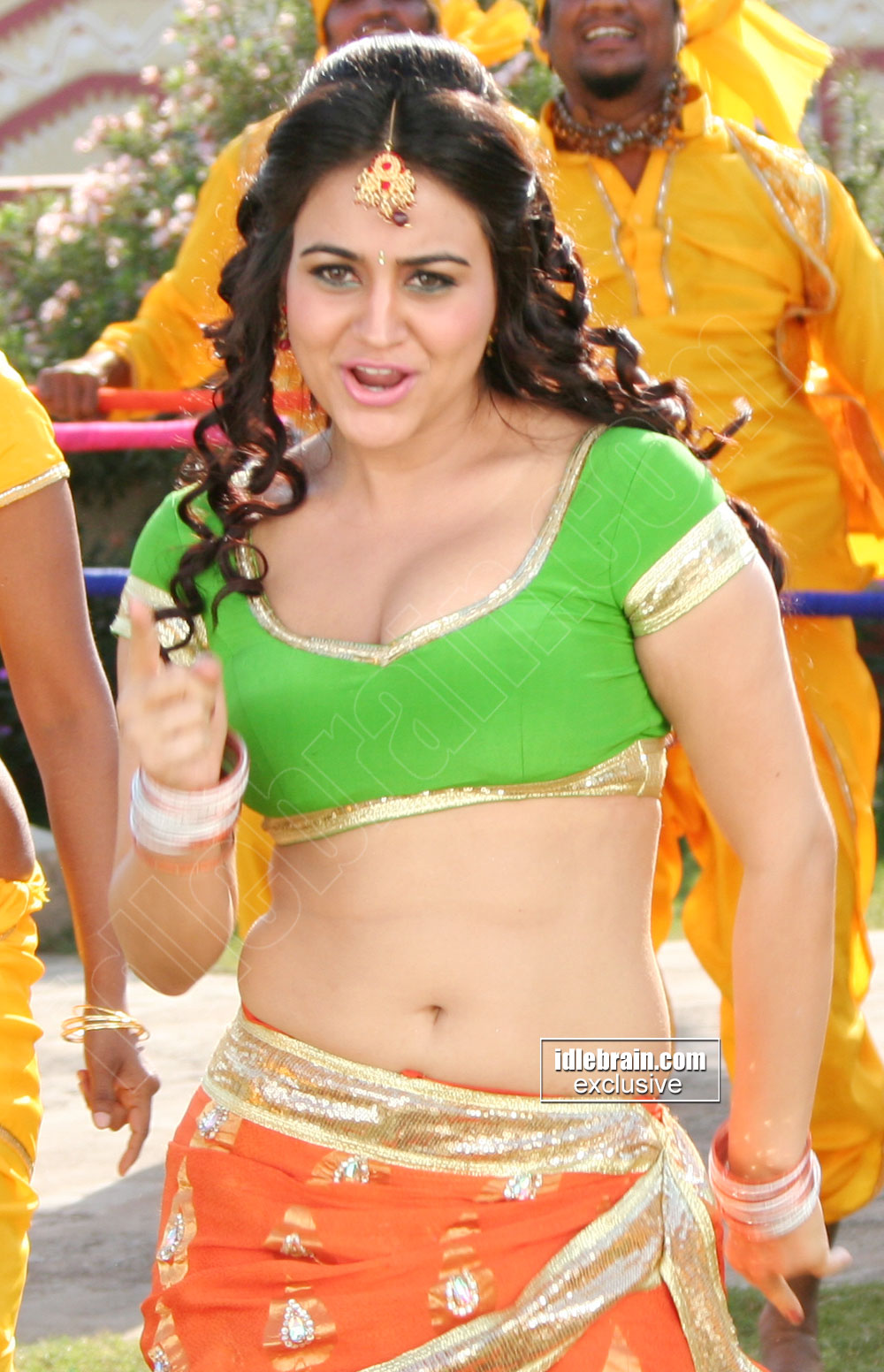 telugu actress navel show