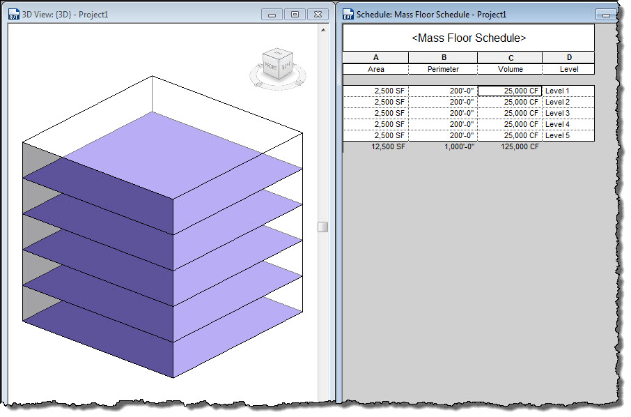 how to create a mass floor in revit