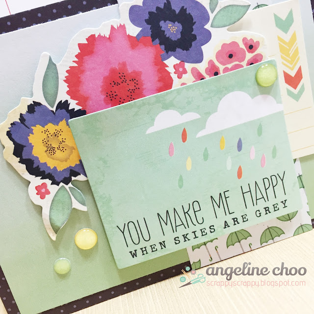 ScrappyScrappy: You make me happy when skies are grey #scrappyscrappy #dearlizzy #card