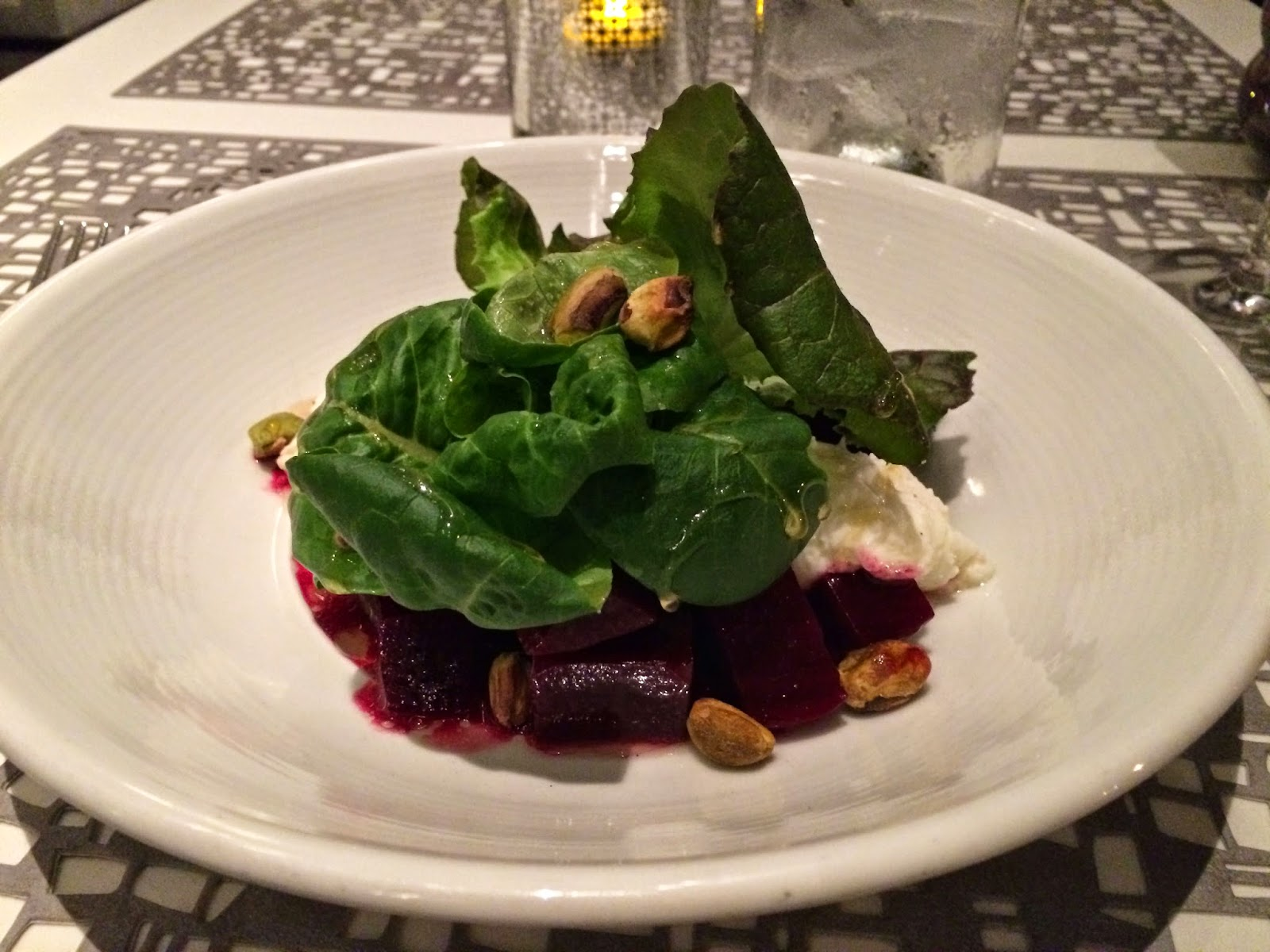 Roasted Beet Salad at Trace