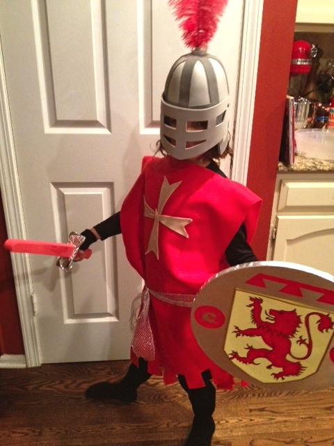 Knight in a night a homemade knight costume p art y solutioingenieria Choice Image
