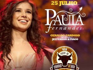 Inhapi: Prefeito Zé Cícero confirma Paula Fernandes na Festa do Carro de Boi.