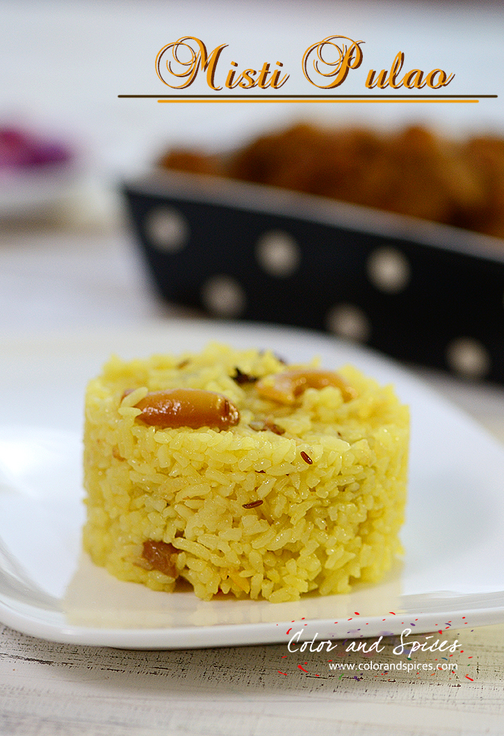 Color and spices misti pulaongali style sweet pulao bengali style sweet pulao forumfinder Gallery