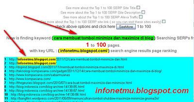 Cara mengetahui peringkat blog di google