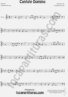 Cantate Domino Partitura de Oboe Sheet Music for Oboe Music Score