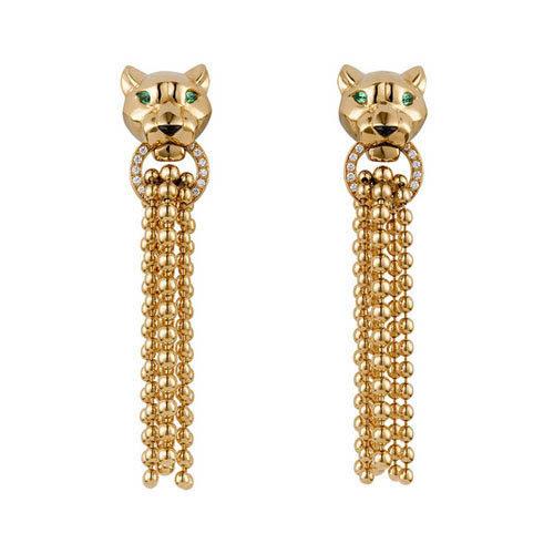 Cartier Panthère Earrings Yellow Gold
