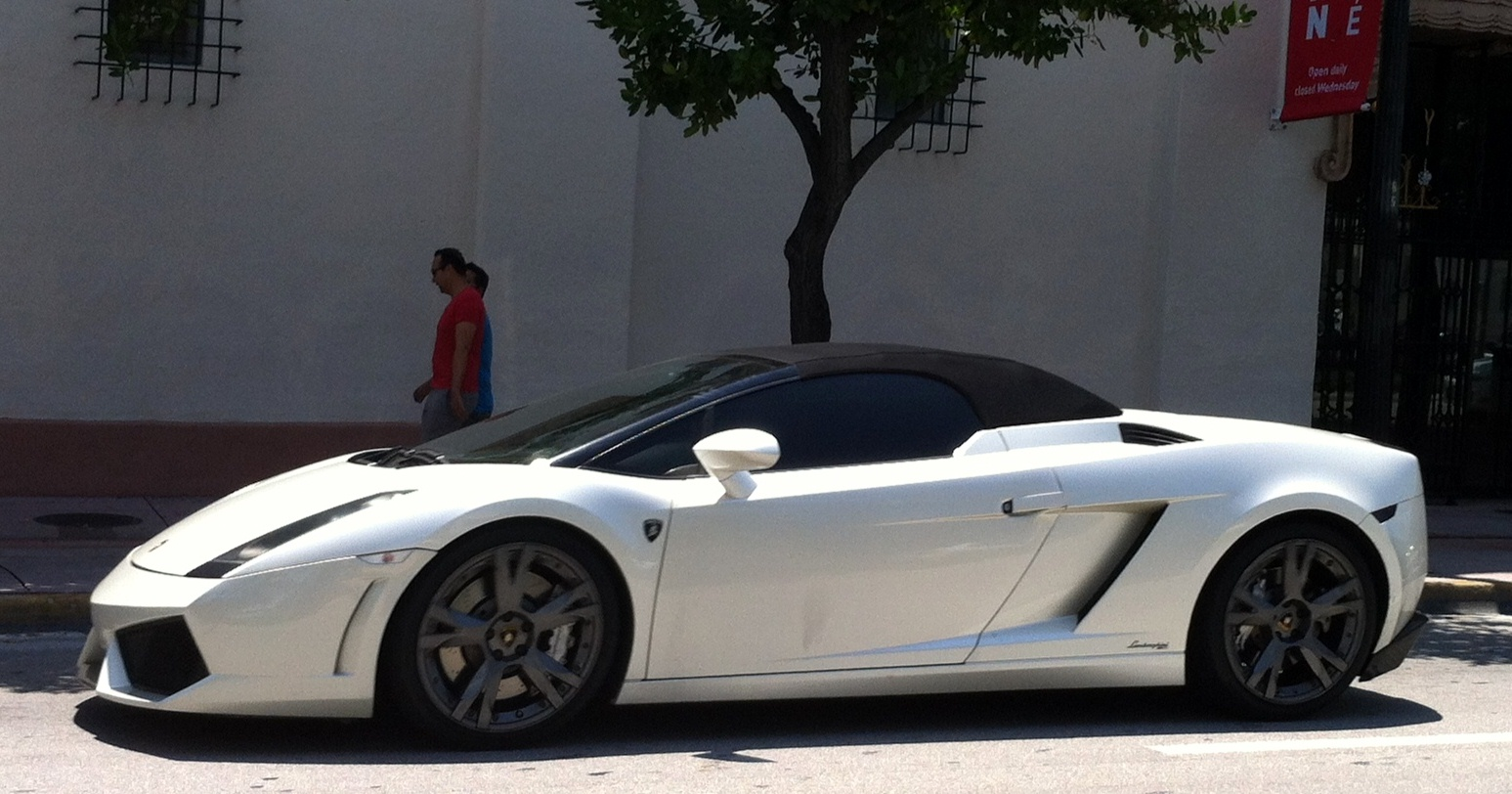 Pearl / White Lamborghini Gallardo Spyder | Exotic Cars on ...