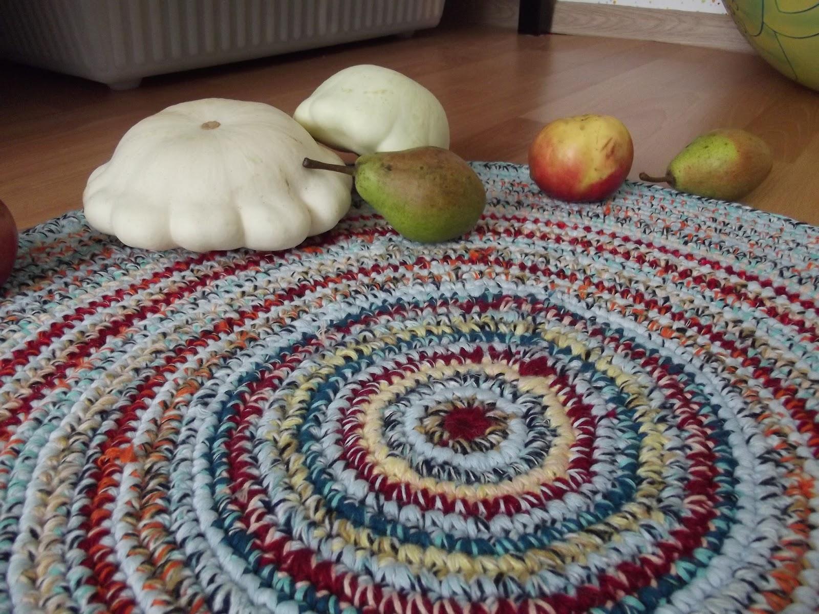 Вязание ковров из тряпок