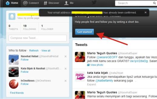 Langkah-langkah Daftar Akun Twitter Indonesia