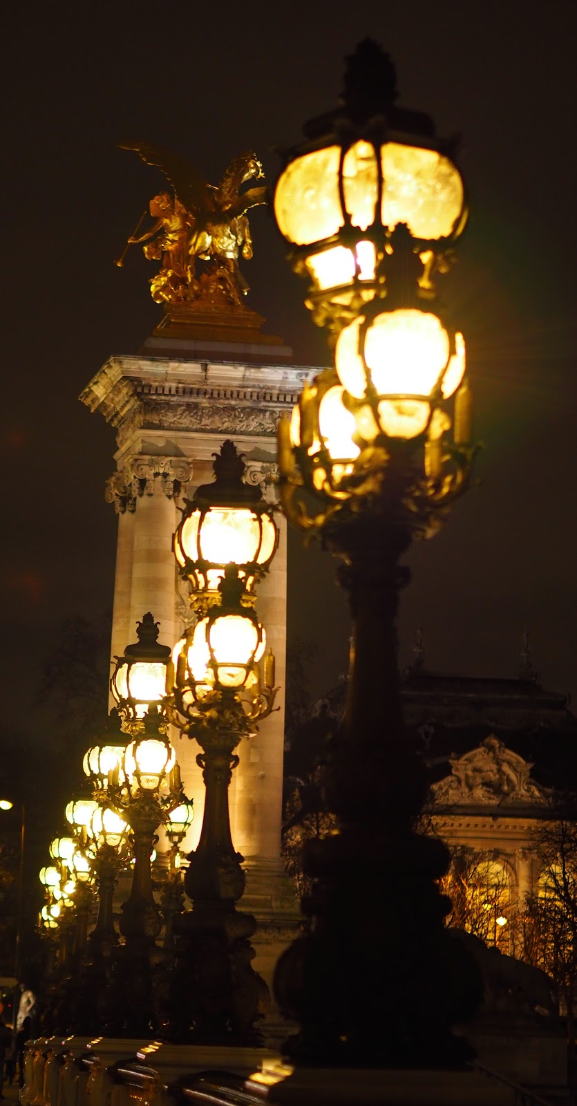 Paris lights at night