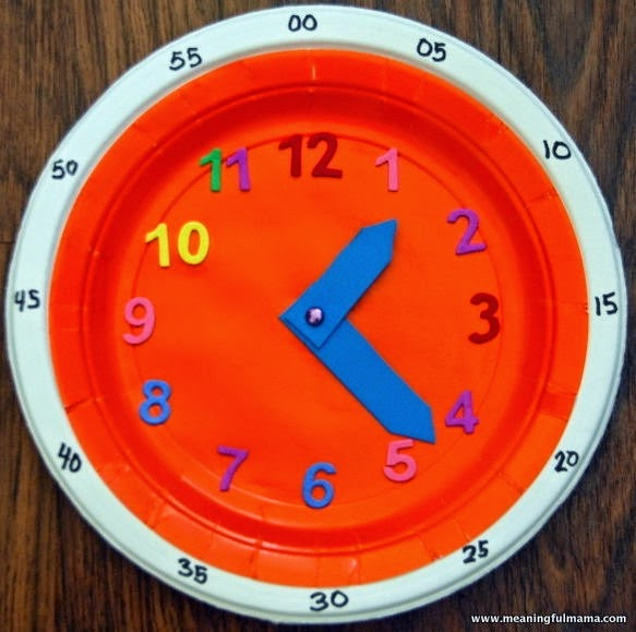 Manualidades escolares para decorar para aprender el reloj - Manualidades relojes infantiles ...