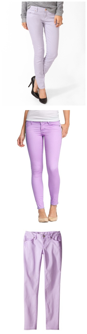 Lavender Skinny Jeans, Lavender, Pastel Purple, Spring 2013