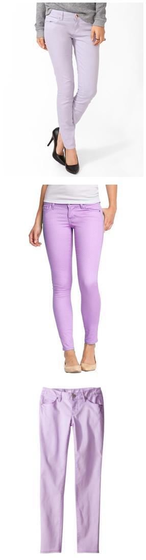 Lavender Skinny Jeans, Lavender, Pastel Purple, Spring 2013