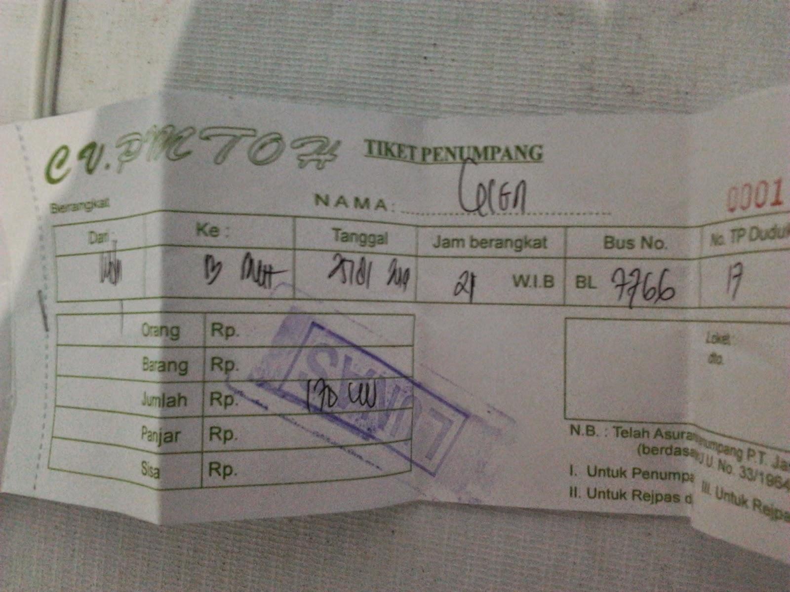 Tiket Bus PMTOH