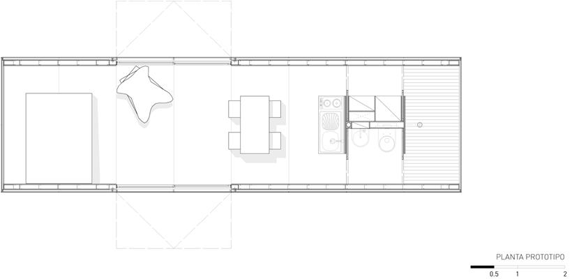 Container house floorplan