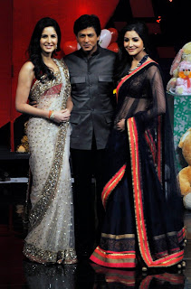 Shahrukh Khan, Katrina and Anushka on the sets of India's Got Talent