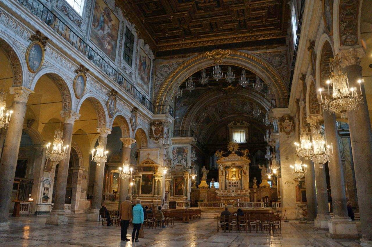 Beautiful cathedral in Rome Italy.