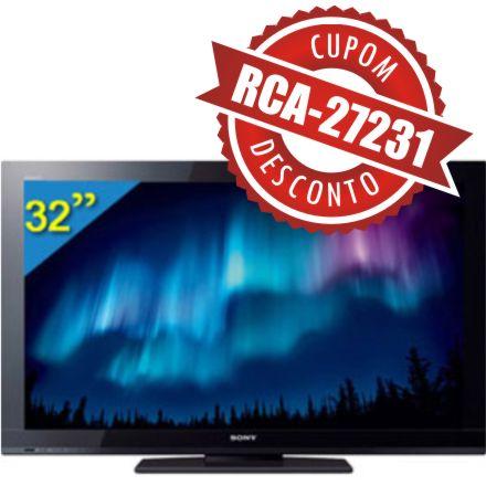 Cupom Efácil - TV 32 LCD Sony Bravia FULL HD KDL-32BX425