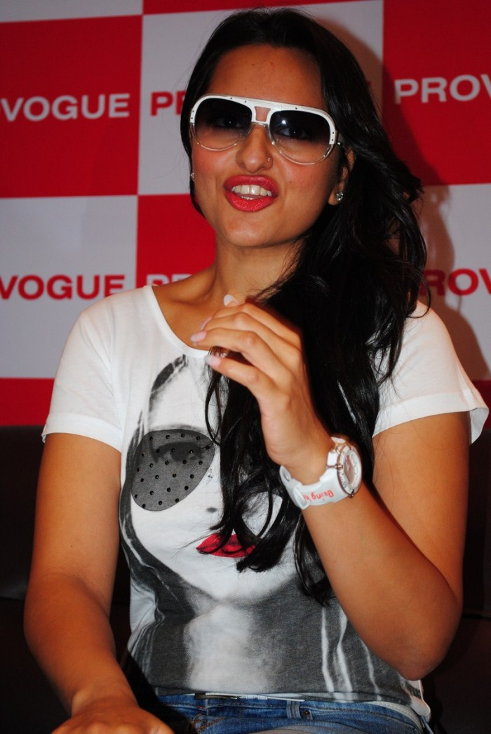 Bollywood Actress Sonakshi Sinha at Provogue Showroom