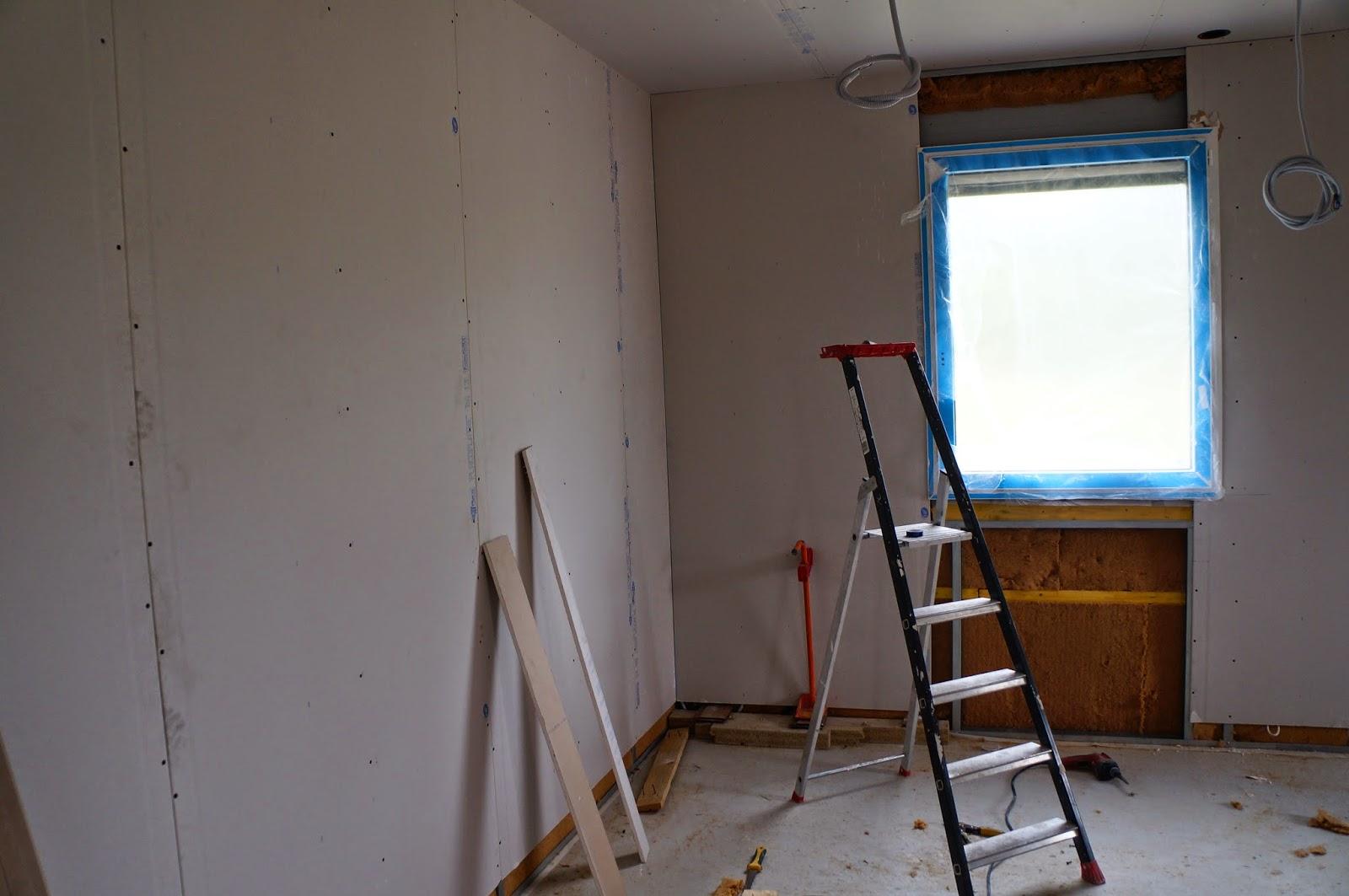 Notre maison wooden for Peindre sur du placo
