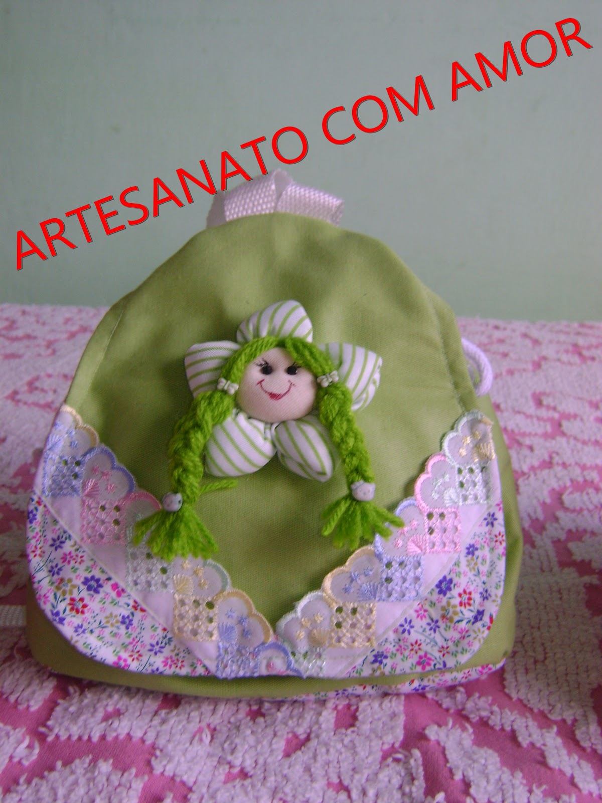 Artesanato Infantil Com Tecido ~ ARTESANATO COM AMOR BOLSAS DE TECIDO INFANTIL