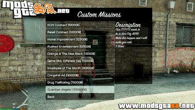 V - Pack de Missões de Transporte Personalizado para GTA V PC