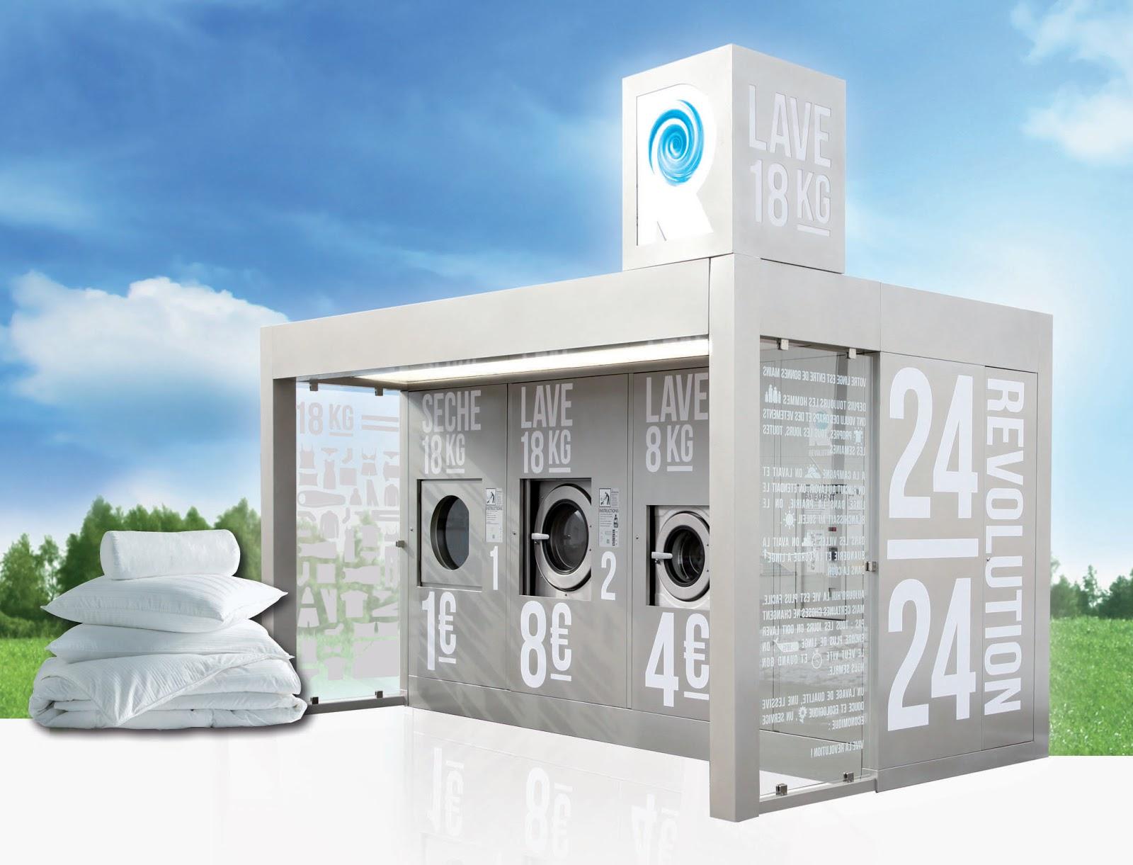 Laverie automatique exterieur
