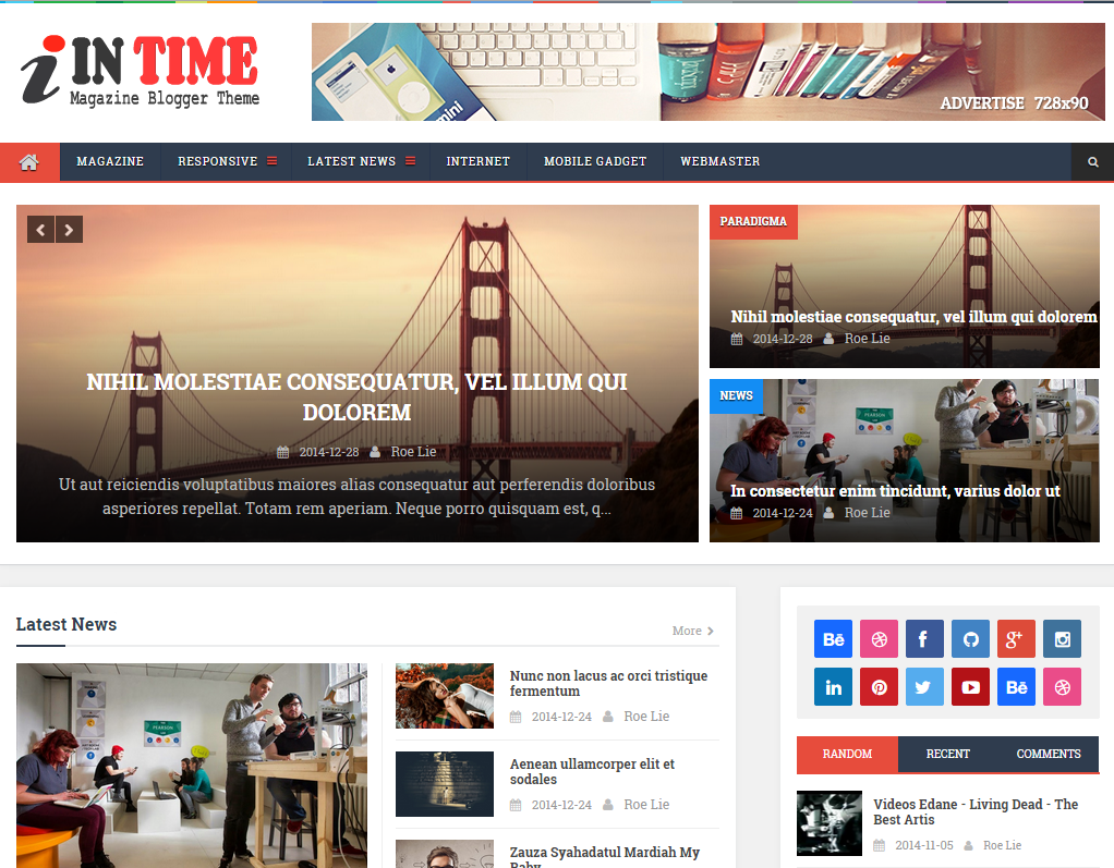 InTime -  Responsive Blogger Template